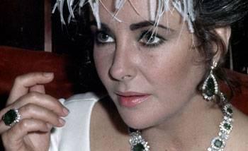 Les bijoux de la star Elisabeth Taylor