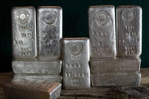 Les lingots d'argent pour la vente de bijoux