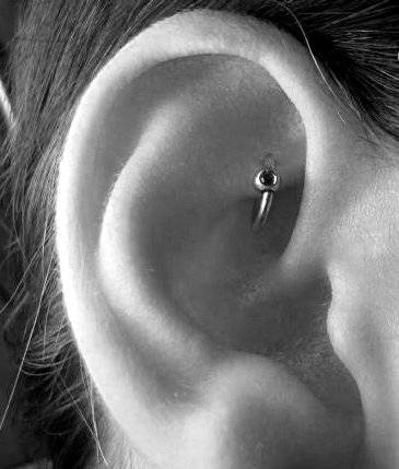 Piercing oreille barbell