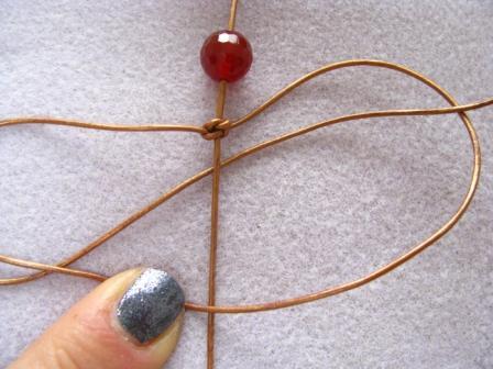 comment fabriquer des bracelet shamballa Etape 7