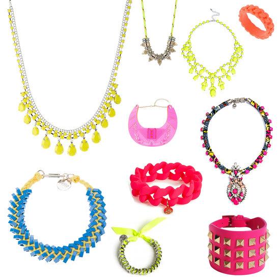 bijoux aux couleurs fluo