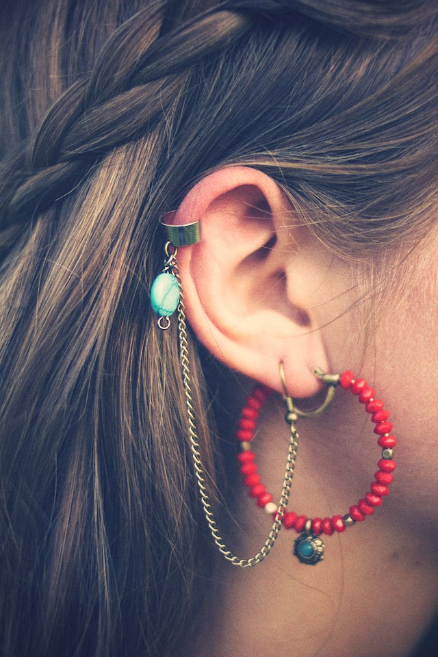 tutoriel photo fabriquer soi m me ses boucles d 39 oreilles ear cuffs. Black Bedroom Furniture Sets. Home Design Ideas